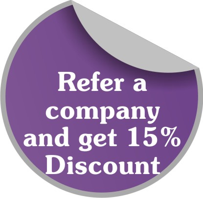 Refer a company and get 15% Discount